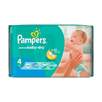 Pampers Active Baby-Dry 4 Maxi (46 шт.)