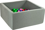 Misioo 90x90x40 200 шаров (серый)