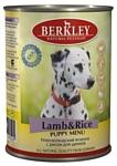 Berkley (0.4 кг) 1 шт. Паштет для щенков. Новозеландский ягненок с рисом