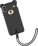 Baseus Bear Silicone для iPhone XS Max (черный)