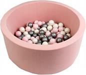 Misioo 90x40 200 шаров (светло-розовый)