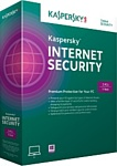 Kaspersky Internet Security 2015 (3 ПК, 1 год, продление, Box)