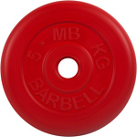 MB Barbell Стандарт 31 мм (1x5 кг, красный)