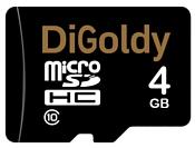 Digoldy microSDHC class 10 4GB + SD adapter