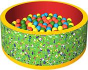 Romana Веселая полянка ДМФ-МК-02.51.01 (150 шариков, зеленый/красный)