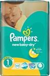 Pampers New Baby-Dry 1 Newborn (43 шт.)