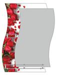 Алмаз-Люкс Зеркало Бутоны красных роз F-421-6