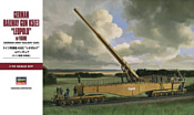 Hasegawa Ж\д орудие German Railway Gun K5(E) Leopold w/Figure