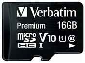 Verbatim Premium 44082 16GB + SD adapter