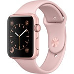 Apple Watch Series 2 42mm Rose Gold with Pink Sand Sport Band (MQ142)