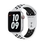 Apple Nike 44 мм (чистая платина/черный, R) MX8F2