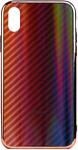 EXPERTS AURORA GLASS CASE для iPhone X/XS с LOGO (красно-черный)