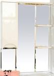 Misty Зеркальный шкаф Жасмин - 75 (бежевый)