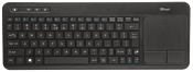 Trust Veza Wireless Keyboard with touchpad Black USB