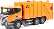 Bruder Scania R-series Garbage truck orange 03560