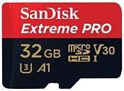 SanDisk Extreme Pro microSDHC Class 10 UHS Class 3 V30 A1 100MB/s 32GB + SD adapter