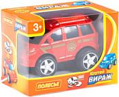 Полесье Крутой Вираж автомобиль пожарный инерционный 78988