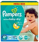 Pampers Active Baby-Dry 4+ MaxiPlus (120 шт.)