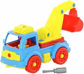 Полесье 73044 Автомобиль-экскаватор (голубой/желтый)