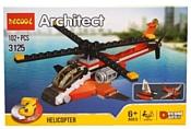 Jisi bricks (Decool) Architect 3125 Красный вертолет