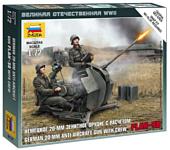 """Звезда Немецкое 20-мм зенитное орудие """"Flak-38"""" с расчетом"""