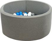 Misioo 90x30 200 шаров (серый)
