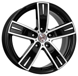 NZ Wheels F-16 6.5x16/5x112 D57.1 ET50 BKF