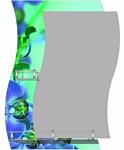 Алмаз-Люкс Зеркало Орхидеи в бирюзе F-421-3