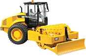 Bruder Cat vibratory soil compactor with levelling blade 02450