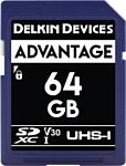 Delkin SDXC Advantage UHS-I 64GB