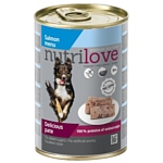 Nutrilove (0.4 кг) 1 шт. Dogs - Delicious pate - Salmon menu