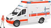 Bruder Mercedes Benz Sprinter ambulance with driver 02536