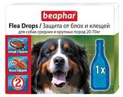 Beaphar Flea Drops для собак средних и крупных пород (1 пипетка)