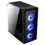 AeroCool Quartz Black/blue
