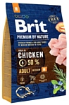 Brit (3 кг) Premium by Nature Adult M
