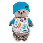 Basik & Co Басик в футболке космос и в шапочке (22 см)
