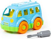 Полесье 78995 Автобус малый (голубой)