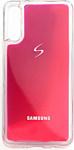 EXPERTS NEON SAND TPU CASE для Samsung Galaxy A21 с LOGO (фиолетовый)