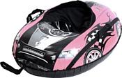 Тяни-Толкай Машинка Comfort со спинкой (розовый)
