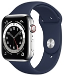 Apple Watch Series 6 GPS + Cellular 44mm Stainless Steel Case with Sport Band