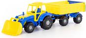 Полесье Алтай трактор с прицепом №1 и ковшом 35349