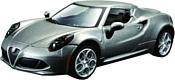 Bburago Alfa Romeo 4C 18-43037 (серый)