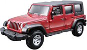 Bburago Jeep Wrangler Unlimited Rubicon 18-45121 (красный)