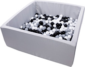 Misioo 130x130x50 700 шаров (светло-серый)