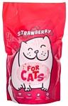 For Cats с ароматом клубники 4л