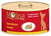 Molina Консервы для собак Цыпленок в желе (0.08 кг) 1 шт.