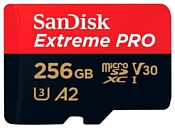 SanDisk Extreme Pro microSDXC Class 10 UHS Class 3 V30 A2 170MB/s 256GB + SD adapter