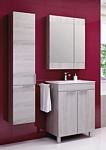 Aqwella Шкаф с зеркалом Бриг 60 (дуб седой) (Br.04.06/Gray)