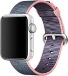 Apple из плетеного нейлона 42 мм (светло-розовый/темно-синий) (MNKG2)