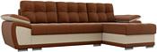 Лига диванов Нэстор 100420 (коричневый/бежевый)